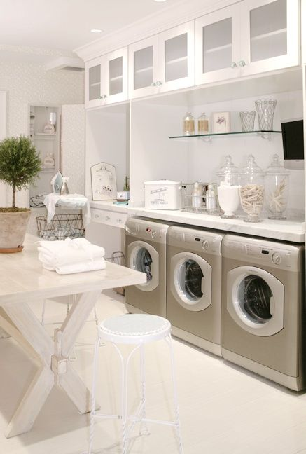 the equivalent of a luxury bathroom for the body - a luxury laundry room for our wardrobe!