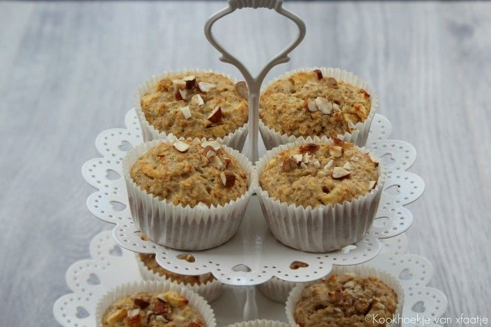 Banaan/appel havermout muffins