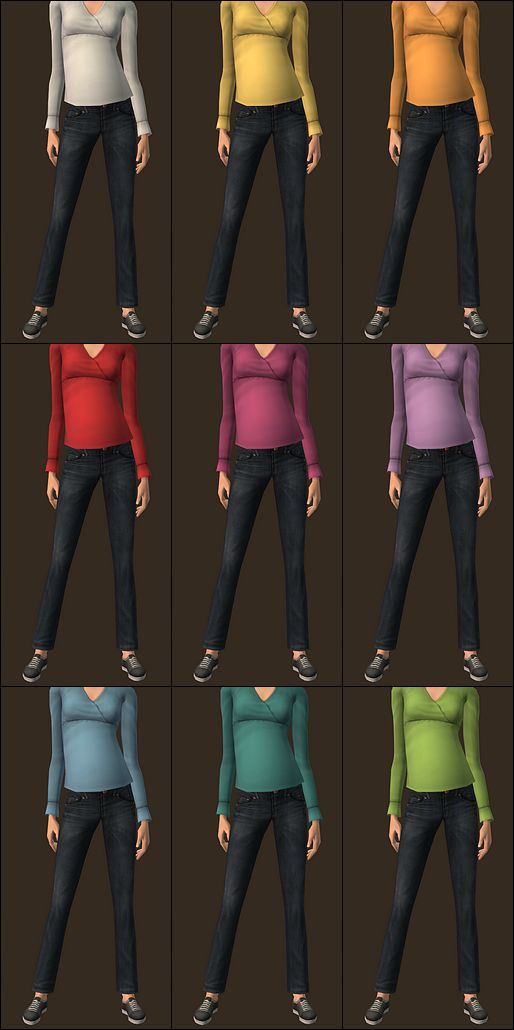 Mod The Sims - 4 recolors of the Freetime Gypsy outfits