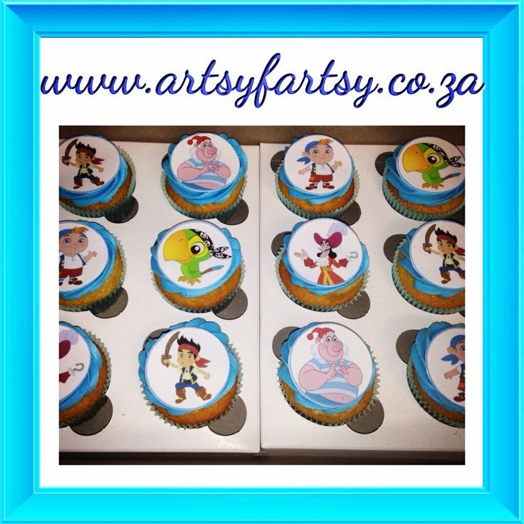 Jake and Neverland Pirates Edible Picture Cupcakes