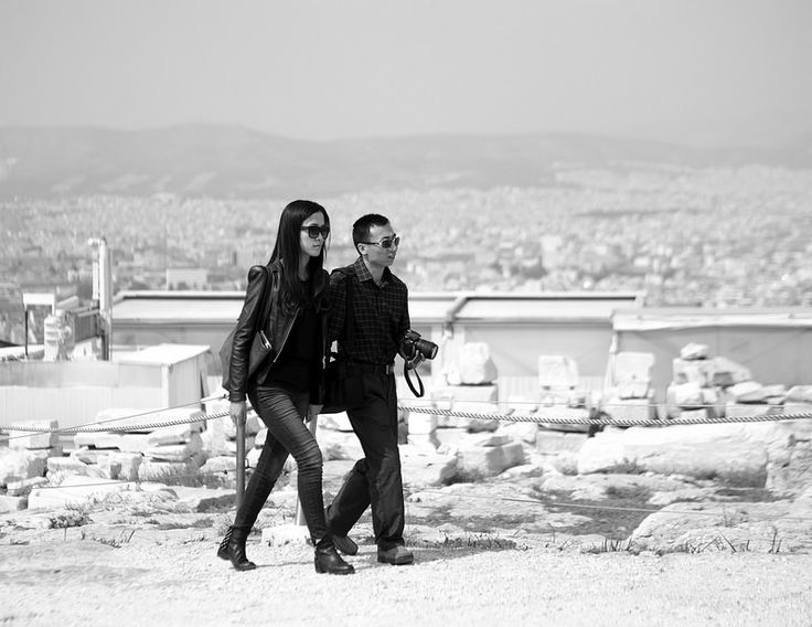 Couple in Black with White