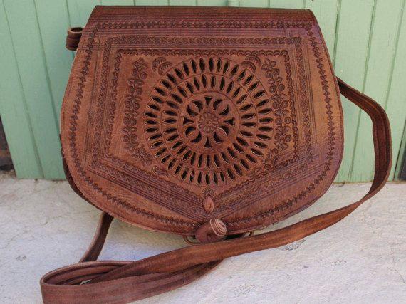 Leather Saddle Bag Cross Body Bag Leather Bag by EATHINI on Etsy