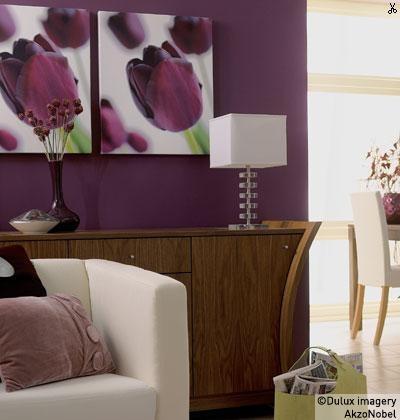 Using deep violets
