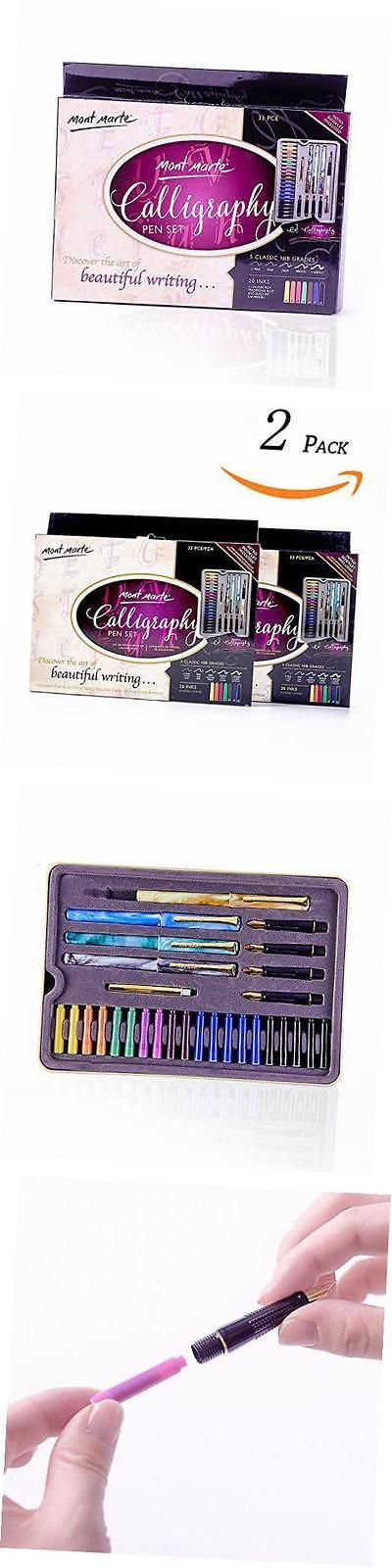 Calligraphy Sets 41203: Calligraphy Pen Set 66Pce-2Pack -> BUY IT NOW ONLY: $48.58 on eBay!