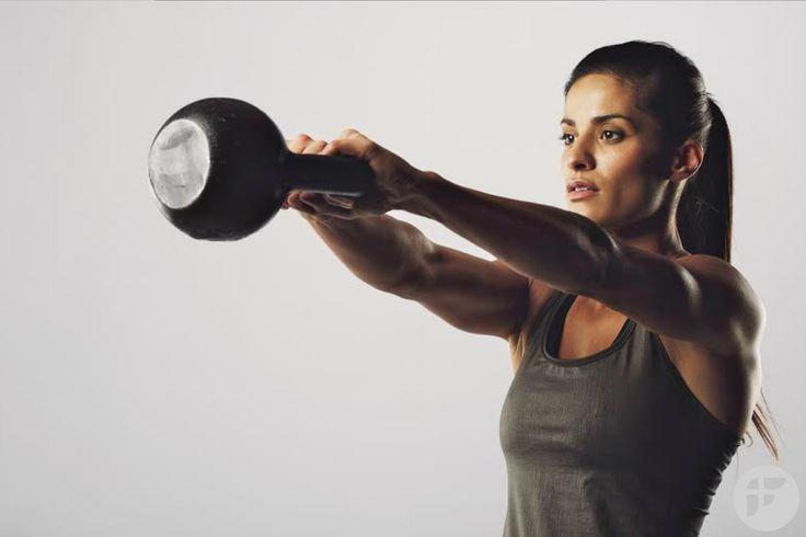 Burn up to 300 calories in just 20 minutes with kettlebell workout. #kettlebell #fatloss #loseweight