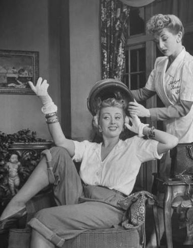 Actress joan blondell flickr photo sharing hair for 1950 beauty salon