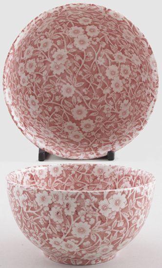 Burleigh - Calico pink - Sugar Bowl large 12cm diameter 6.5cm high x1  (discontinued)