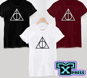 Camiseta Blusa Harry Potter Reliquias Logo Triangulo Para Caballero, Dama o Niños