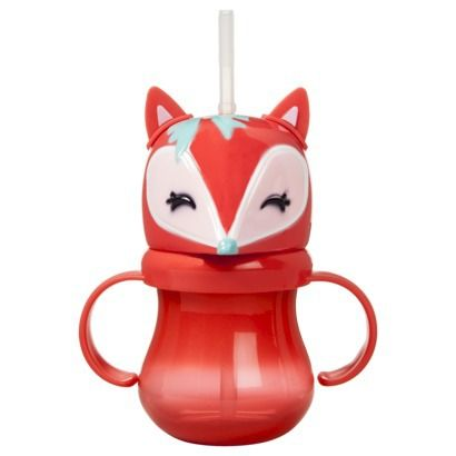 Circo® Fox Handled Sippy Cup with Straw Set of 3. @Jamie Wise Wise Rogers What does the fox say?