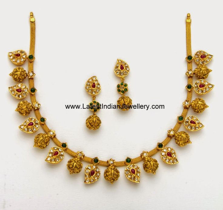 Nakshi Balls Mango design gold Necklace