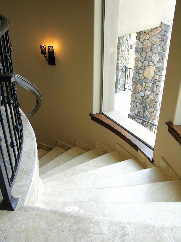 Arizona Luxury Home Featuring Durango Veracruz™ HF Custom Stair Treads.  Www.durangostone.