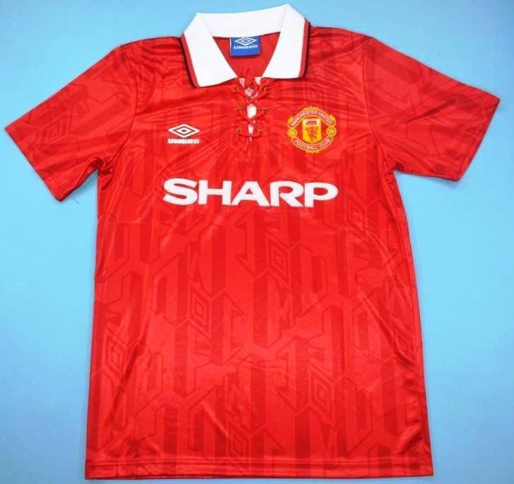 f3a593b556c Maillot foot retro Manchester United 1993-1994