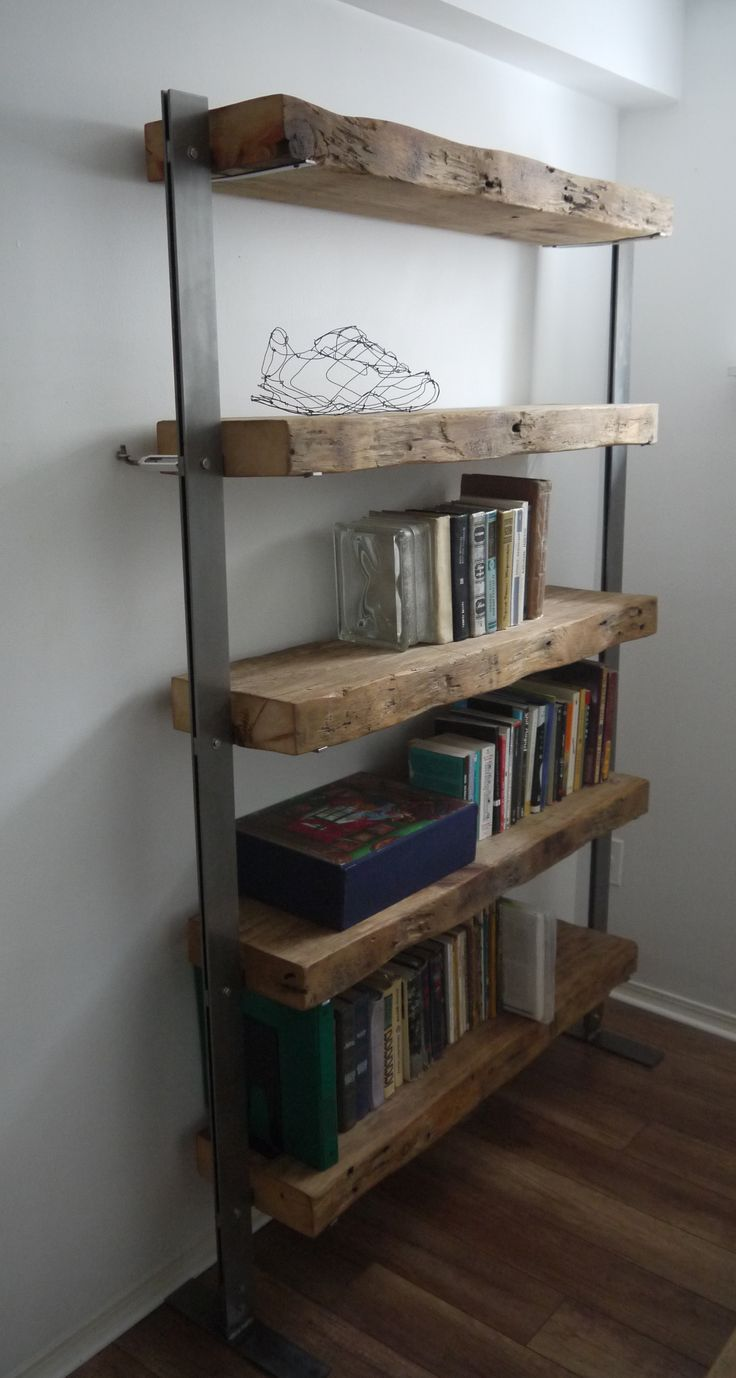 28 best bookshelves images on pinterest industrial shelves home ideas and rustic shelves. Black Bedroom Furniture Sets. Home Design Ideas