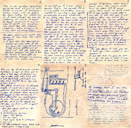 Zodiac Killer, Buss Bomb letter page 1-5 and page 7
