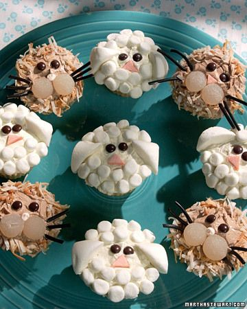 Lion and Lamb Cupcakes - Martha Stewart Recipes
