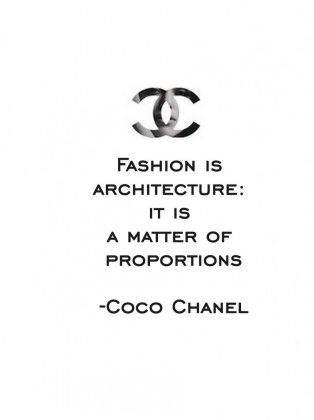 Fashion Is Architecture: It Is A Matter Of Proportions.   Gabrielle U0027Cocou0027