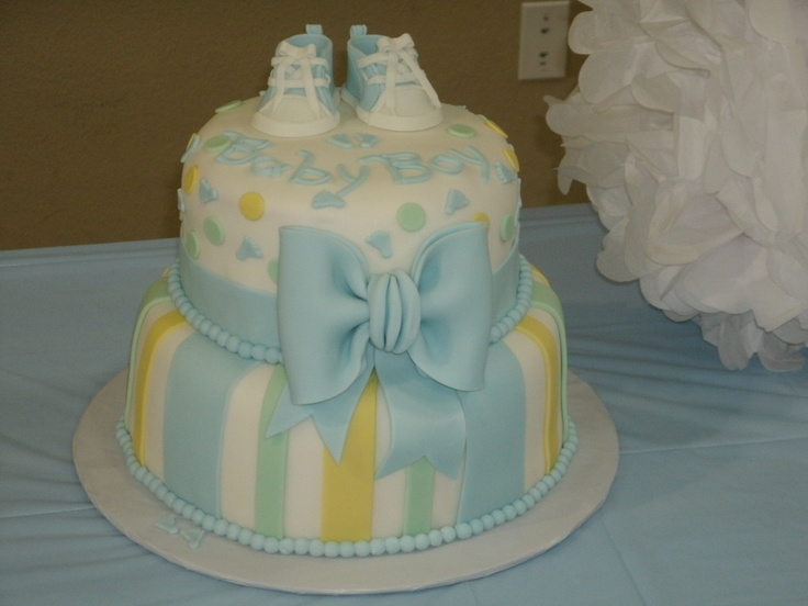 Baby Shower Cake for Boy - baby tennis shoes