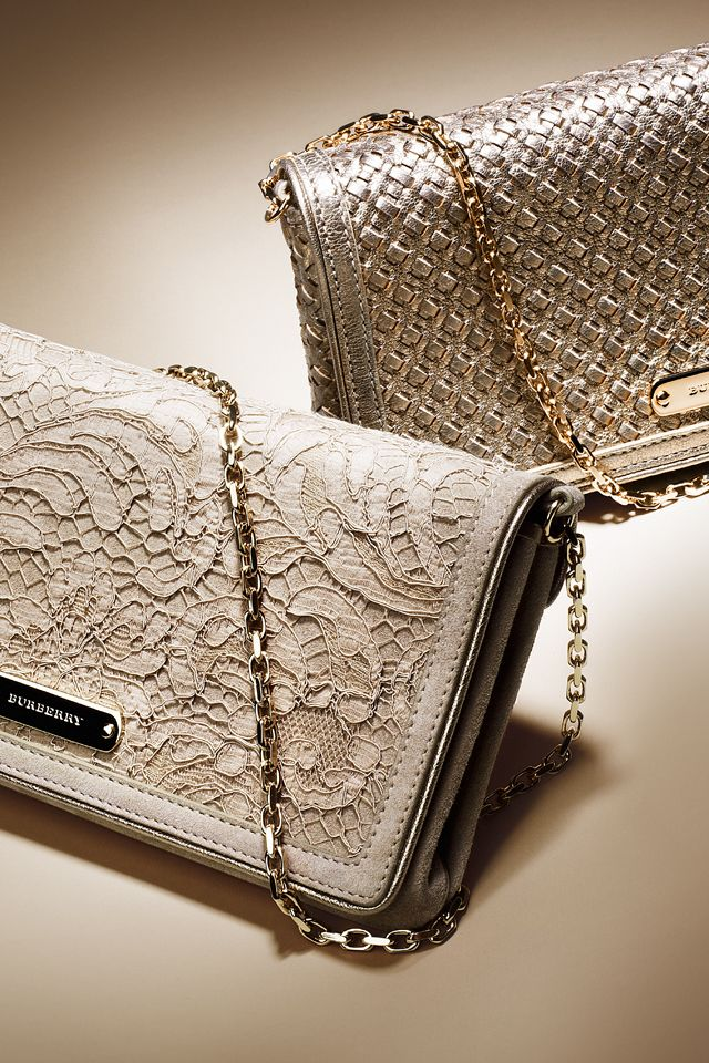 ♔ Burberry Rose Gold Clutches : the lacey purse   --->Elsie RC