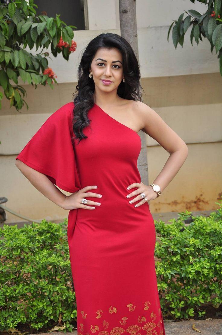 Nikki Galrani Stills in Red One-Shoulder Long Dress at Malupu Success Meet ★ Desipixer  ★