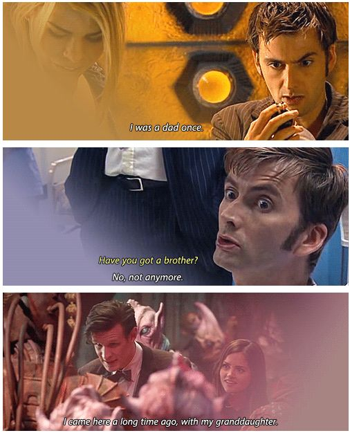 The Doctor mentioning his family