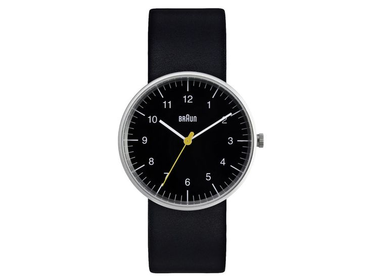 Yes, that Braun. The electric shaver company has quietly produced a side collection of watches that's as big as it is impressive, combining monochrome straps and faces with statement yellow and red detailing. This simple, entry-level model remains one of the most wearable.£120, Braun