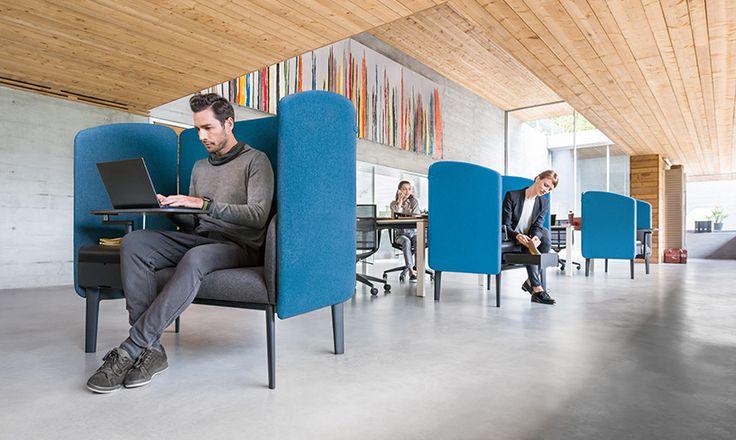 Modern modulair bureau en ergonomische bureaustoelen | Sedus