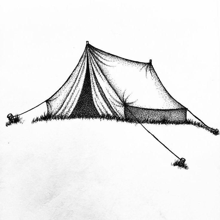 """Soulreflection (@soulreflection) på Instagram: """"Wanderlust  #tent #caming #wildlife #onewithnature #wanderlust #pointillism #dotwork #stippling…"""""""