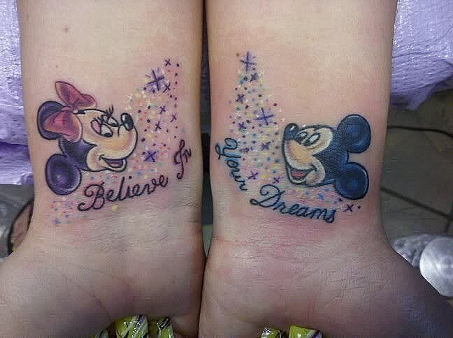 Tatuajes de Mickey Mouse y Minnie - BlogTatuajes.com