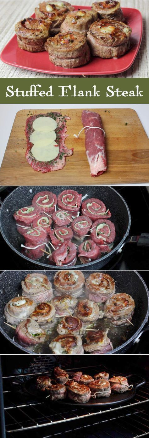 How to make stuffed flank steak.