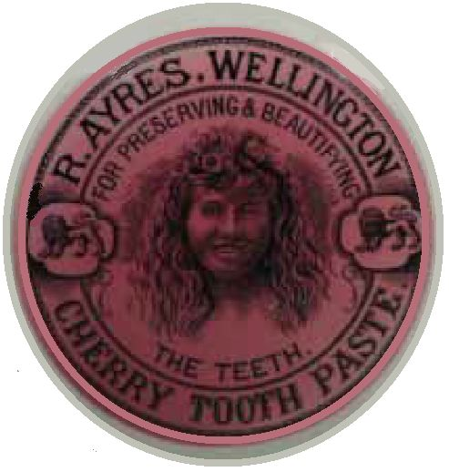 R AYRES WELLINGTON CHERRY TOOTH PASTE FOR PRESERVING & BEAUTIFYING THE TEETH