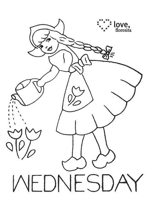 Wednesday Dutch Girl by floresita's transfers, via Flickr