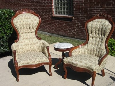 Great Antique Victorian Chairs $200 Includes Marble Top Table (in KW)