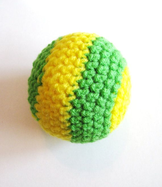 Toss 'n Fetch Ball  Dog Toy by SweetlyScrambled on Etsy, $5.00 #dog #toy #crochet #ball