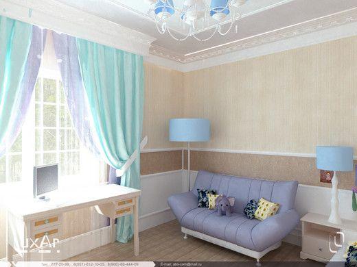 Детская комната для девочки, Скандинавский стиль. . Детская