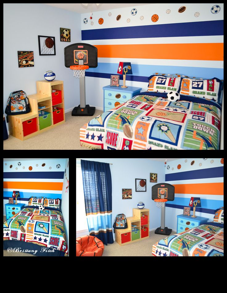 Kid's sports theme bedroom