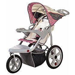 InStep Grand Safari Swivel Wheel Jogger, Tan/Pink