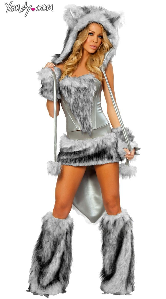 sexy wolf corset skirt and tail - Wish Halloween Costumes