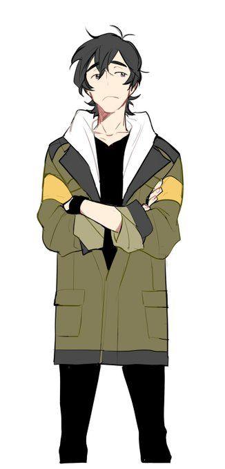 Keith wearing his boyfriend's jacket is great