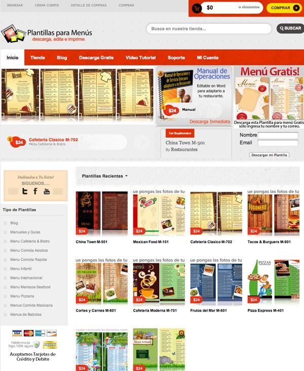 plantillas para menus de restaurantes gratis - Pertamini.co