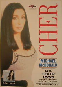 Cher Concert Tour Poster 1999 Believe | eBay