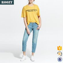 China wholesale linen cotton-blend short sleeve yellow custom t-shirt  Best buy follow this link http://shopingayo.space