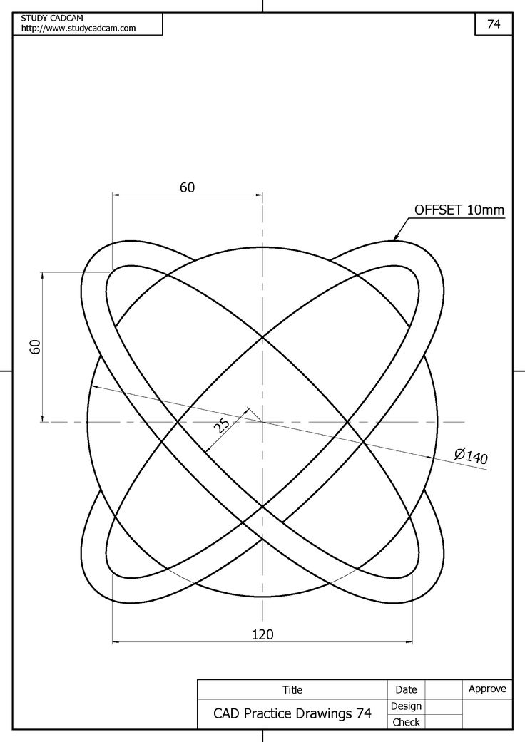Pin on Cad Practice Drawings