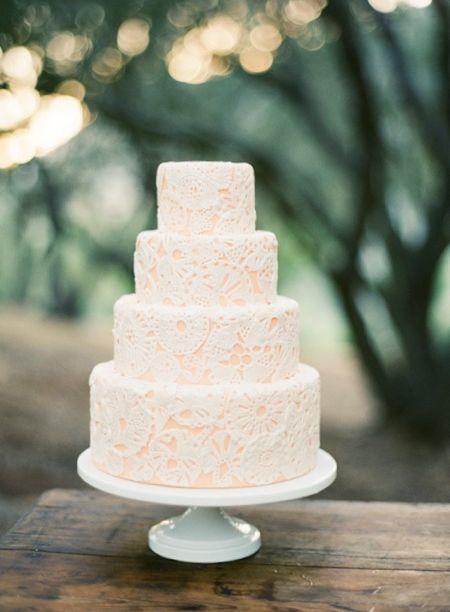 Doily wedding cake: Outdoor Wedding, Lace Cakes, Weddingcakes, Doilies, Wedding Ideas, Cakes Design, Lace Wedding Cakes, Peaches, Fondant Cakes