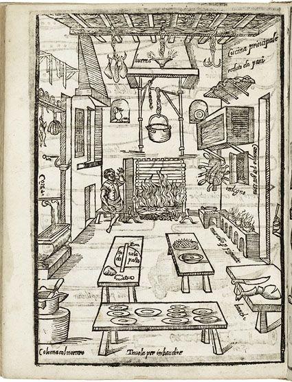 Bartolomeo Scappi. Opera di M. Bartolomeo Scappi, cuoco secreto di Papa Pio Quinto. Venice, 1605. Shelfmark TX711 S4 1605 Cage Copy 2.