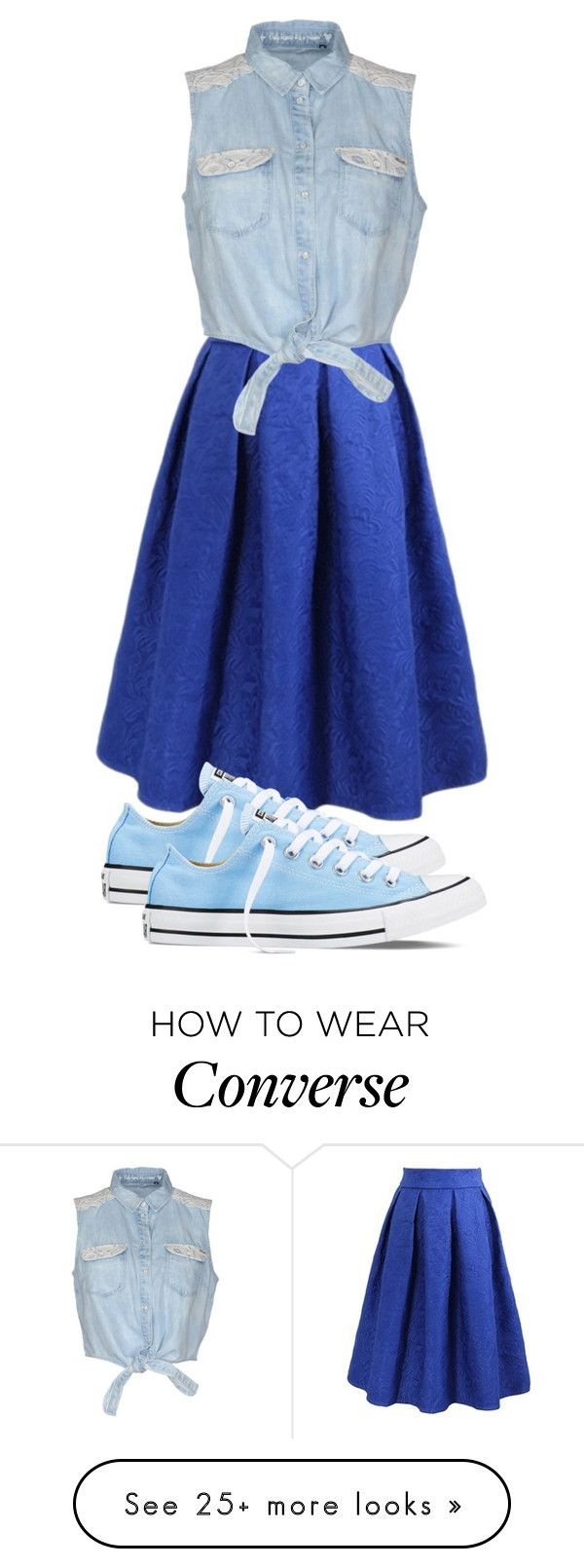 """""""Untitled #187"""" by dreamyfuture on Polyvore featuring ONLY, Converse, women's clothing, women's fashion, women, female, woman, misses and juniors"""