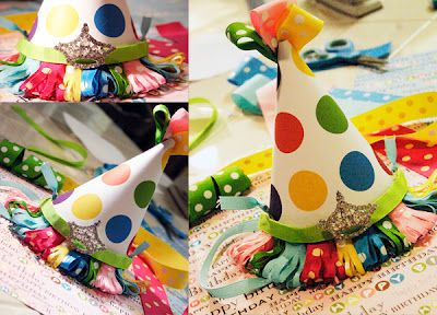 I want everyone to wear these at my next birthday party!: Polka Dots, Parties Hats, Birthday Parties, Party Hats, Dots Parties, Birthday Hats, Diy Tutorials, Parties Ideas, Hats Diy