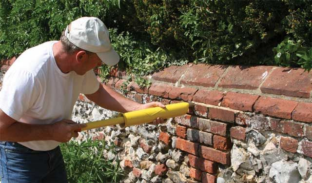 The PointMaster repointing 300 year old church wall