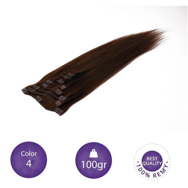 """Clip in Extensions 100% Human Remy natural hair. 55 cm long. 22"""" color 4 by peloxtensiones on Etsy"""