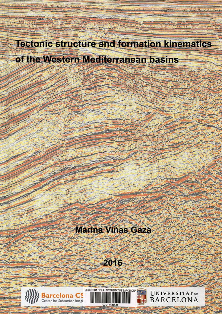 #nabibgeo Tectonic structure and formation kinematics of the Western Mediterranean basins/ memòria presentada per Marina Viñas Gaza sota la direcció del Dr. César Rodriguez Ranero i sota la tutela del Dr. Juan José Ledo Fernández. Novembre 2016 [Data:29/06/2017]