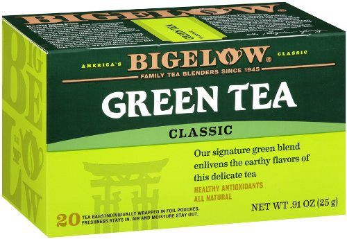 Bigelow Green Tea, 20-Count Boxes (Pack of 6) - http://teacoffeestore.com/bigelow-green-tea-20-count-boxes-pack-of-6/
